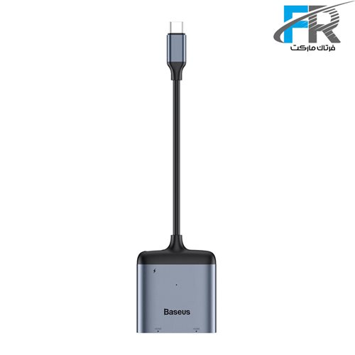 هاب 3 پورت باسئوس مدل Enjoy Series HUB Adapter Type-C To HDMI*2 + PD CAHUB-I0G
